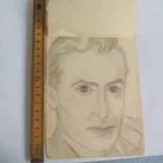 Arte: ANTIGUO DIBUJO ORIGINAL DE AÑOS 40, FIRMADO KYRA LOCK. Lote 133290866