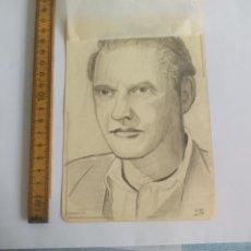 Arte: ANTIGUO DIBUJO ORIGINAL DE 1948, FIRMADO I. DH. Lote 133291034