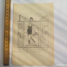 Arte: ANTIGUO DIBUJO ORIGINAL DE LOS AÑOS 40,. Lote 133291398