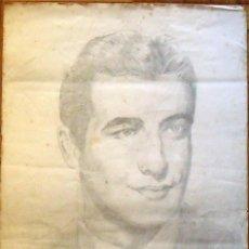 Arte: FRANCISCO DELGADO. DIBUJO A LÁPIZ. ACTOR DE HOLLYWOOD ROBERT TAYLOR. 1940. FIRMADO A MANO. 34X23 CM.. Lote 133365718