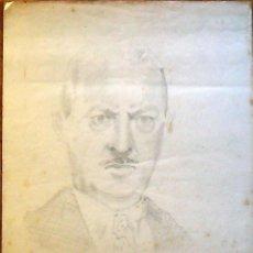 Arte: FRANCISCO DELGADO. DIBUJO A LÁPIZ. ACTOR DE HOLLYWOOD. 6-6-1940. DAVID NIVEN.. Lote 133420278