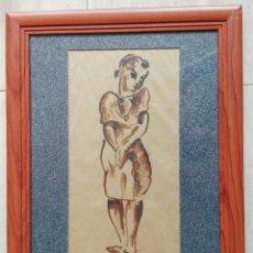 Arte: ESCUELA CATALANA - DIBUJO MITAD DEL SIGLO XX. Lote 154468144