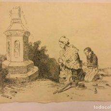 Arte: DIBUJO LAPIZ ORIGINAL DE FRANCISCO ROMAN ( ARTISTA LOCAL REUS ) ESCUELA SALAMANCA 1944. Lote 133445966