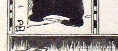 Arte: DIBUJO TINTA JOAN PELLICER MONTSENY. MAIG. PARA LA ESQUELLA DE LA TORRATXA. FIRMADO A MANO. - Foto 3 - 133465486