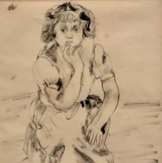Arte: BENJAMIN PALENCIA - TÉCNICA MIXTA - 1952 - FIRMADA. Lote 133504262