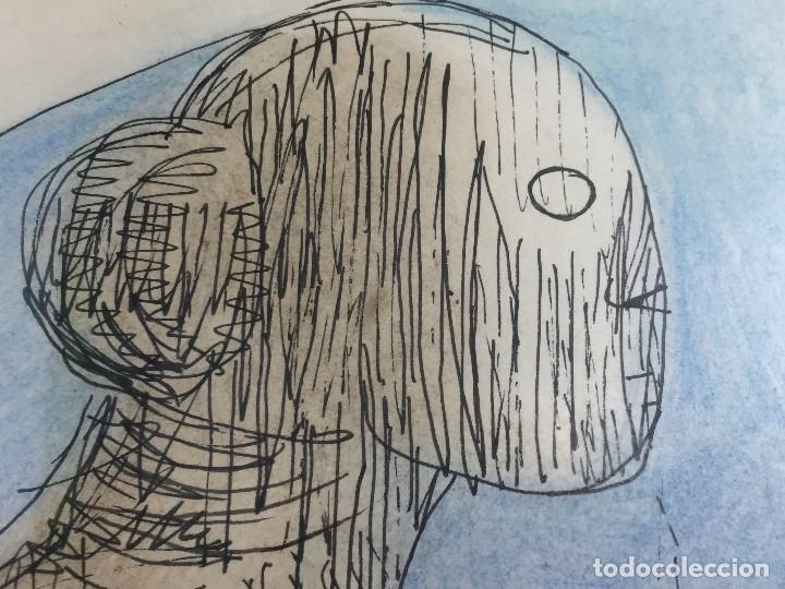Arte: figura mujer desnuda recostada dibujo tinta lápiz graso difuminado firma mendoza 69 - Foto 13 - 133601334
