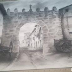 Arte: DIBUJO A CARBONCILLO FIRMADO. Lote 133719617