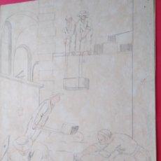 Arte: ANTIGUOS DIBUJOS MENORQUINES ATRIBUIDOS A PASQUAL CALBÓ (MAÓ, MENORCA, 1752 -1817). Lote 133760606