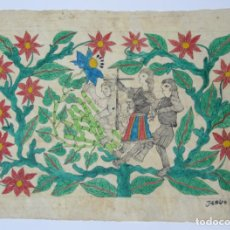 Arte: DIBUJO CONQUISTADORES, FIRMA ILEGIBLE. 56,5X40CM. Lote 133800146