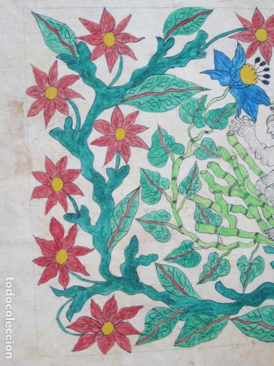 Arte: Dibujo conquistadores, firma ilegible. 56,5x40cm - Foto 2 - 133800146