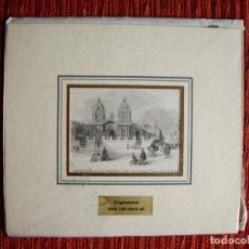 Arte: 1860- CONVENTO DE SAN FRANCISCO. LIMA. PERÚ. GRABADO ORIGINAL. Lote 134001174