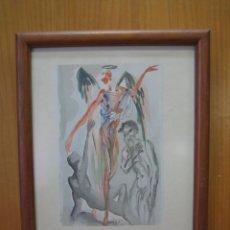 Arte: ANTIGUO DIBUJO DE DALI. MARCO 36,5X30CM. DIBUJO 33X26,5CM. Lote 134038806