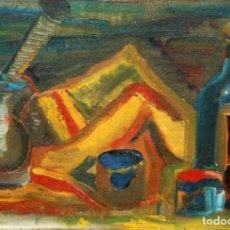 Arte: ANONIMO. OLEO SOBRE CARTON ENTELADO. BODEGON. Lote 134149722