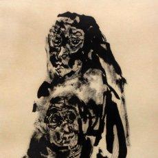 Arte: BURGOS, 1971, INTERESANTE DIBUJO A TINTA, TENEBRISMO, EXCELENTE EJECUCIÓN. 30X40CM. Lote 134385054