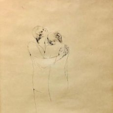 Arte: MONTSERRAT GUDIOL - DIBUJO TINTA SOBRE PAPEL - FIRMADA. Lote 134401058