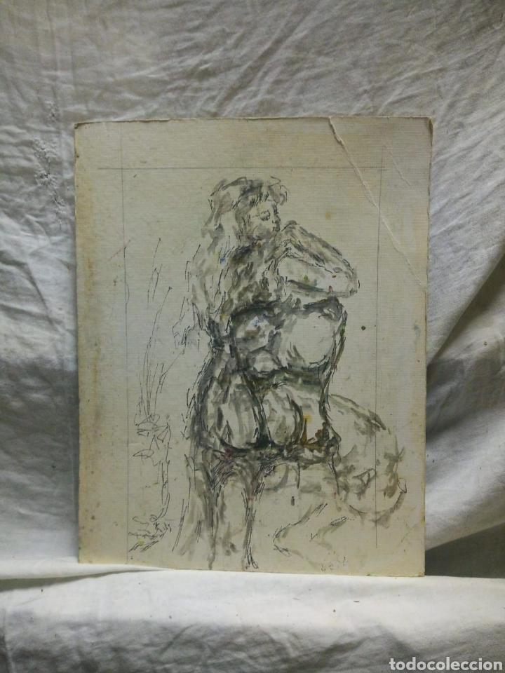 MUJER DE LOS 60 PENSATIVA(GRAN CALIDAD) (Arte - Dibujos - Contemporáneos siglo XX)