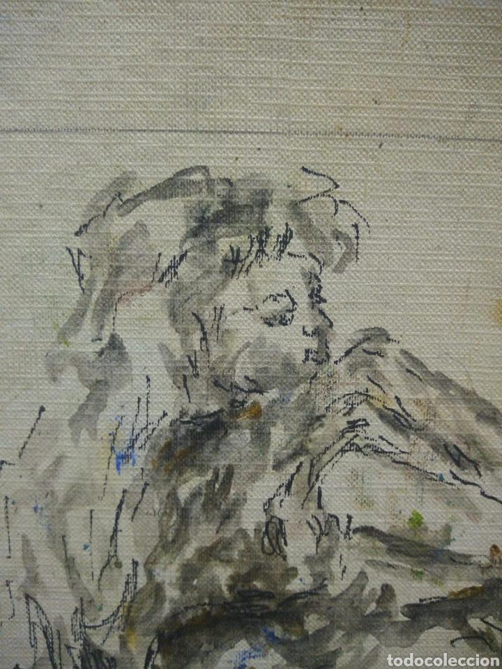 Arte: Mujer de los 60 pensativa(gran calidad) - Foto 2 - 134453923