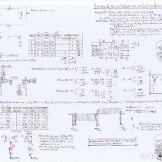 Arte: CALCULO ESTRUCTURAS ORIGINALES A3-LC--2HOJAS A3-EJERCICIO10(9€). Lote 134864278