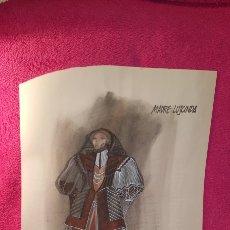 Arte: 4 GRANDES DIBUJOS PARA FIGURINES DE GERARDO VERA 1989. Lote 134872259