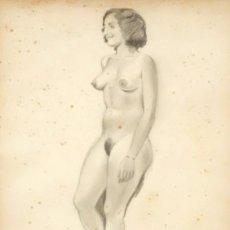Arte: RICARDO OPISSO I SALA (TARRAGONA, 1880 - BCN, 1966) DIBUJO A LAPIZ. DESNUDO FEMENINO. Lote 134887166