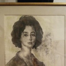 Arte: ARTURO SOUTO DE 1962, RETRATO AL PASTEL FIRMADO. Lote 134704482