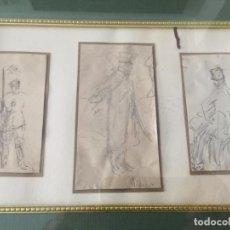 Arte: RICARDO DE VILLODAS , DIBUJO ORIGINAL , MILITAR , MILITARES . FIRMADO. Lote 135027834
