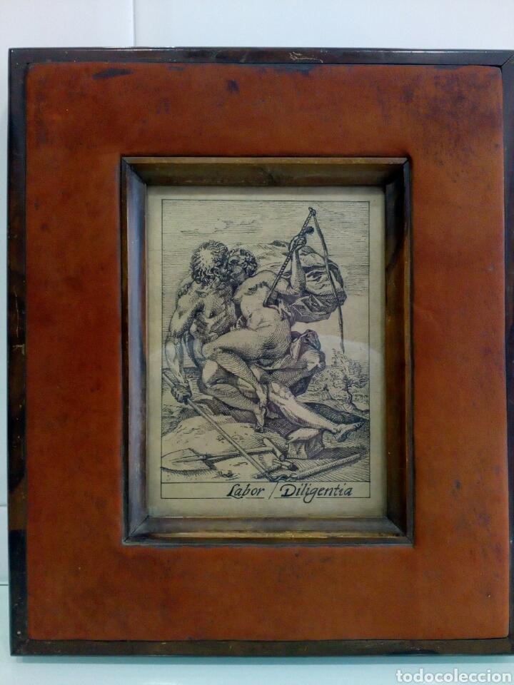 DIBUJO TINTA ORIGINAL SIGLO XIX, ARES Y VENUS, DESNUDO FEMENINO, CLASICISMO (Arte - Dibujos - Modernos siglo XIX)