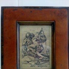 Arte: DIBUJO TINTA ORIGINAL SIGLO XIX, ARES Y VENUS, DESNUDO FEMENINO, CLASICISMO. Lote 135029702