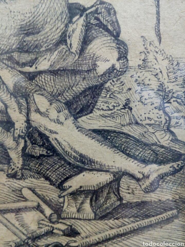 Arte: DIBUJO TINTA ORIGINAL SIGLO XIX, ARES Y VENUS, DESNUDO FEMENINO, CLASICISMO - Foto 5 - 135029702
