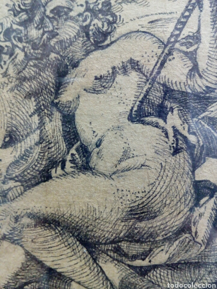 Arte: DIBUJO TINTA ORIGINAL SIGLO XIX, ARES Y VENUS, DESNUDO FEMENINO, CLASICISMO - Foto 12 - 135029702