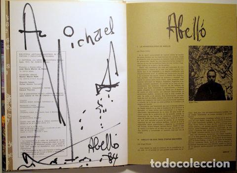ABELLÓ, JOAN - ABELLÓ - BARCELONA 1974 - ILUSTRADO - DEDICATORIA Y DIBUJO DEL PINTOR (Arte - Dibujos - Contemporáneos siglo XX)
