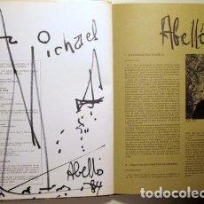 Arte: ABELLÓ, JOAN - ABELLÓ - BARCELONA 1974 - ILUSTRADO - DEDICATORIA Y DIBUJO DEL PINTOR. Lote 135089174
