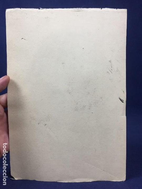 Arte: dibujo plumilla tinta dedicado firmado A garrido muchacho sonriendo retrato 1ª mitad s XX 22,5x15,5c - Foto 6 - 135156094