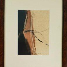 Arte: ABSTRACTO. TECNICA MIXTA SOBRE PAPEL. JOAN HERNANDEZ PIJUAN. 1965.. Lote 135185974