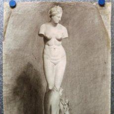 Art: VENUS DE MILO ?. CARBONCILLO - FIRMADO POR SALVADOR ARANDA - AÑO 1922. Lote 135314218