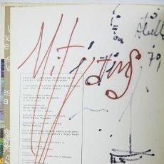 Arte: DIBUJO ORIGINAL DEL PINTOR JOAN ABELLÓ EN LIBRO - 28. MAESTROS PINTURA Y ESCULTURA CATALANAS, 1974. Lote 135395630