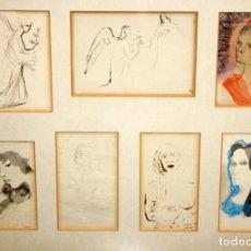 Arte: FRANCESC DOMINGO SEGURA (1895 - 1974) CONJUNTO DE 7 DIBUJOS ORIGINALES EN VARIAS TECNICAS. Lote 135563842
