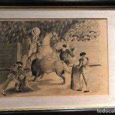Arte: DIBUJO DEL PINTOR VALENCIANO MANUEL FERNANDEZ LUQUE. Lote 135878694
