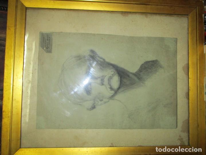 Arte: ÀNTIGUO DIBUJO RETRATO ORIGINAL FIRMADO M . CRUMP ESTADOS UNIDOS BOSTON SIGLO XIX - Foto 3 - 135894142