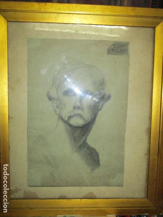 Arte: ÀNTIGUO DIBUJO RETRATO ORIGINAL FIRMADO M . CRUMP ESTADOS UNIDOS BOSTON SIGLO XIX - Foto 18 - 135894142