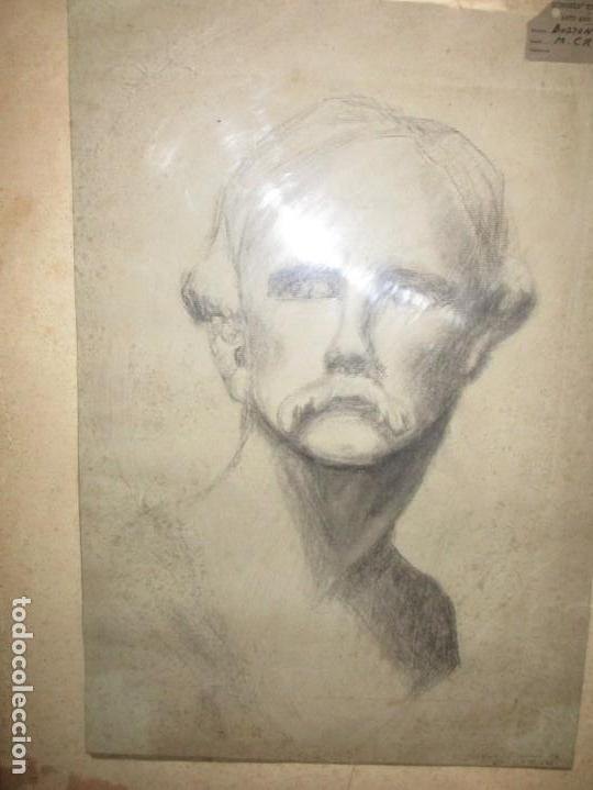 Arte: ÀNTIGUO DIBUJO RETRATO ORIGINAL FIRMADO M . CRUMP ESTADOS UNIDOS BOSTON SIGLO XIX - Foto 24 - 135894142