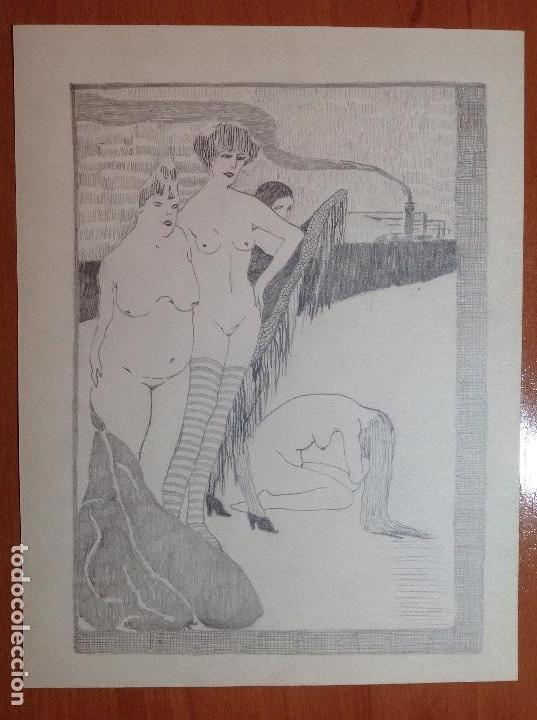 ANÓNIMO. DESNUDOS FEMENINOS. (Arte - Dibujos - Contemporáneos siglo XX)