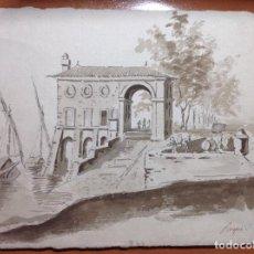 Arte: ANÓNIMO. SIGLO XVIII. EL EMBARCADERO.. Lote 136240354