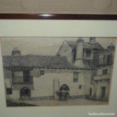 Arte: DIBUJO A LÁPIZ DE JOSEP RIGOL I FORNAGUERA.HECHO RIRESA(HUESCA)1931.. Lote 136368906