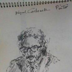 Arte: CUADERNO DE ESPECTACULARES DIBUJOS ÚNICOS. Lote 136391276
