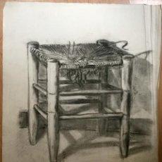 Arte: DIBUJO A CARBONCILLO FIRMADO Y FECHADO POR EL AUTOR. Lote 136491250