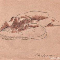 Arte: DIBUJO ORIGINAL DE E. C. RICART 1919 MUJER DESNUDA . MEDUSA. Lote 136493358