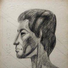 Arte: JORDI CUROS CERAS/PAPEL 50 X 36 CM. FIRMADO, TITULADO Y FECHADO 1956.. Lote 137178590