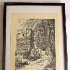 Arte: ALICANTE, TORRE DE LA CONDOMINA DIBUJO A PLUMILLA SERIE 70/300 FIRMADO 1984. Lote 144985812