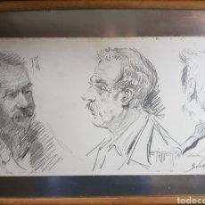 Arte - 3 autoretratos de los pintores E. Rody, tarrech y Bumat - 137236106